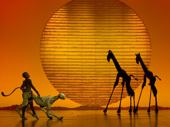 The cast of The Lion King.