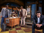 John Douglas Thompson as Becker, Michael Potts as Turnbo, Anthony Chisholm as Fielding and Brandon J. Dirden as Booster in Jitney.