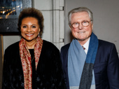Tony winner Leslie Uggams, who starred in August Wilson's King Hedley II, and her husband Grahame Pratt step out for Jitney's opening night.