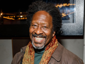 Tony-nominated scribe Clarke Peters (Five Guys Named Moe) is all smiles for Jitney's Broadway opening.