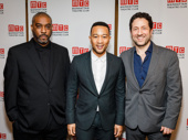 Jitney producers Mike Jackson, John Legend and Eric Falkenstein get together.