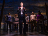 Jenn Colella and the cast of Come From Away.