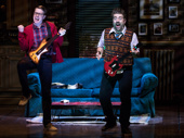 Steven Booth as Ned and Eric Petersen as Dewey in School of Rock.
