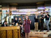 """Laura Osnes sings the soulful tune """"Love Will Come and Find Me"""" with the gentlemen of Bandstand."""