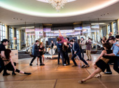 Director/choreographer Andy Blankenbeuhler's moves are in full swing.