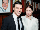 The Glass Menagerie's Finn Wittrock and his wife Sarah Roberts snap a pic.