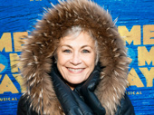 Broadway's original Donna in Mamma Mia!, Louise Pitre, know how to dress for the weather, of course: she's Canadian!