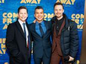 Jack Noseworthy with Tony-nommed choreographer Sergio Trujillo and Tony winner Christopher Wheeldon.