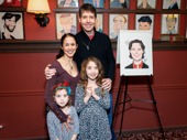 Phantom star James Barbour with wife Dana and their lovely daughters.