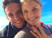 """This pair's one of the great ones! A Bronx Tale star Nick Cordero popped the question to Amanda Kloots—and she said, """"Yes!"""" Congrats to the happy couple on their engagement.(Photo: Instagram.com/nickcordero1)"""