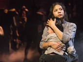 Eva Noblezada as Kim and Samuel Li Weintraub in Miss Saigon.
