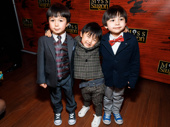 The cutest kiddies on Broadway: Miss Saigon's Samuel Li Weintraub, Jace Chen and Gregory Ye.