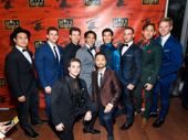 Miss Saigon's gents look sharp: Paul Heesang Miller, Charlie Williams, Sam Strasfeld, Robert Pendilla, Christopher Vo, Casey Lee Ross, Mike Baerga, Graham Scott Fleming, Dan Horn and Billy Bustamante.
