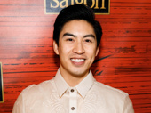 Devin Ilaw is all smiles for his Broadway opening night in Miss Saigon.