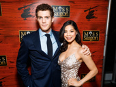 The lovers! Alistair Brammer and Eva Noblezada celebrate their stunning Broadway debuts in Miss Saigon.