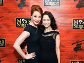 Double Daaé alert! Phantom of the Opera favorite Sierra Boggess and current Christine Ali Ewoldt hug it out.