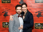 Falsettos family reunion! Brandon Uranowitz and Stephanie J. Block get close on the red carpet.