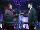 Barrett Doss as Rita Hanson and Andy Karl as Phil Connors in Groundhog Day.