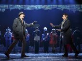 John Sanders as Ned Ryerson and Andy Karl as Phil Connors in Groundhog Day.