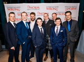 The Play That Goes Wrong's gents: Dave Hearn, Greg Tannahill, Henry Lewis, Jonathan Sayer, Rob Falconer, Jonathan Fielding, Matthew Cavendish and Henry Shields.