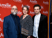 Amélie set and costume designer David Zinn, director Pam MacKinnon and choreographer Sam Pinkleton get together.