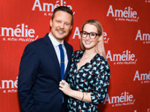 Broadway fave Will Chase and his girlfriend Ingrid Michaelson are all smiles for Amélie.