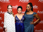 Amélie's Alyse Alan Louis, Maria-Christina Oliveras and Harriett D. Foy get glam for their Broadway opening.