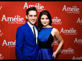 True blue times two! Amélie's Adam Chanler-Berat and Phillipa Soo are ready to celebrate their Broadway opening.