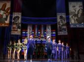 Patti LuPone as Helena Rubinstein, Christine Ebersole as Elizabeth Arden and the cast of War Paint.