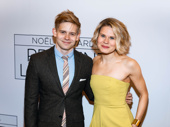 Sibling night out! Theater sibs Andrew and Celia Keenan-Bolger attend the Broadway opening of Present Laughter.