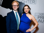 Present Laughter's lighting designer Justin Townsend and his wife Elena Araoz enjoy opening night.