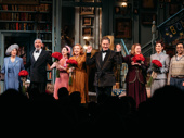 Bravo! The cast of Present Laughter bows on opening night.