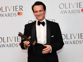 Harry Potter himself! Jamie Parker, winner of the Best Actor award for his role in Harry Potter And The Cursed Child poses with his Olivier Award.(Photo: Getty Images)