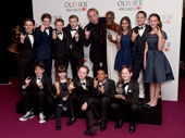 Andrew Lloyd Webber and Laura Mvula pose with cast members from School of Rock after the production's children were recognized with the award for Outstanding Achievement in Music.(Photo: Getty Images)
