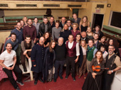 Attend the tale! Sweeney Todd mastermind Stephen Sondheim himself came to wish Jeremy Secomb, Siobhan McCarthy, Betsy Morgan and Duncan Smith well on their last performance in the Barrow Street Theatre production on April 9.(Photo: Twitter.com/sweeneytoddnyc)