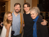We're so excited to hear this cast album! Anastasia's Christy Altomare, John Bolton, Derek Klena and Mary Beth Peil are all smiles.