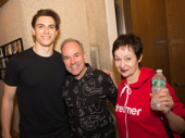 Derek Klena snaps a sweet pic with Anastasia music duo Stephen Flaherty and Lynn Ahrens.