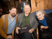 Anastasia's John Bolton and Mary Beth Peil snap a pic with scribe Terrence McNally.