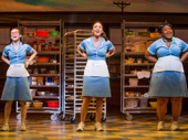 Caitlin Houlahan as Dawn, Sara Bareilles as Jenna and Charity Angel Dawson as Becky in Waitress.