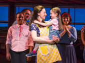 Sara Bareilles and Ella Dane Morgan in Waitress