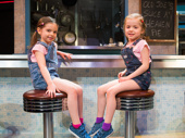 Ella Dane Morgan and Cate Elefante in Waitress.