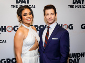 Congrats, you two! Groundhog Day's Barrett Doss and Andy Karl snap a pic.