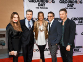 Spring Awakening fave Kathryn Gallagher poses with her father and his Law & Order: SVU crew: Peter Gallagher, Mariska Hargitay, Raúl Esparza and Peter Scanavino.