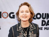 Present Laughter's Kate Burton attends the Broadway opening of Groundhog Day.