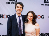 Tony winner Jason Robert Brown and his wife and fellow music maker Georgia Stitt snap a pic.