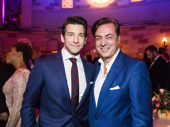 Groundhog Day's Andy Karl snaps a photo with John Gore Organization CEO John Gore at the after party.