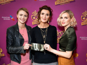 Charlie and the Chocolate Factory author Roald Dahl's children Chloe, Lucy and Phoebe celebrate their late father's memory on opening night.