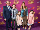 Two-time Tony winner Matthew Broderick, stage and screen fave Sarah Jessica Parker and their children James Wilkie, Tabitha Hodge and Marion Loretta Elwell attend the Broadway opening of Charlie and the Chocolate Factory.