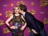 Awww! Stage and screen fave Andrew Rannells gives Jackie Hoffman an opening night smooch.