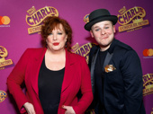 The Gloops clean up nice! Charlie & the Chocolate Factory Kathy Fitzgerald and F. Michael Haynie get silly on and off stage.